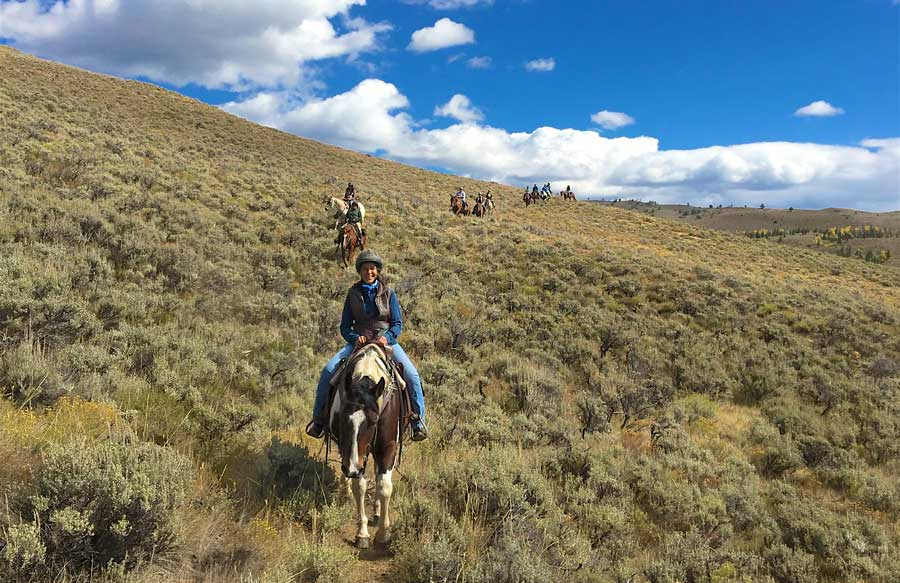 No riding experience necessary at the Women in the Rockies adventures.