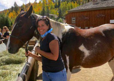 Ginny-and-horse-at-rail