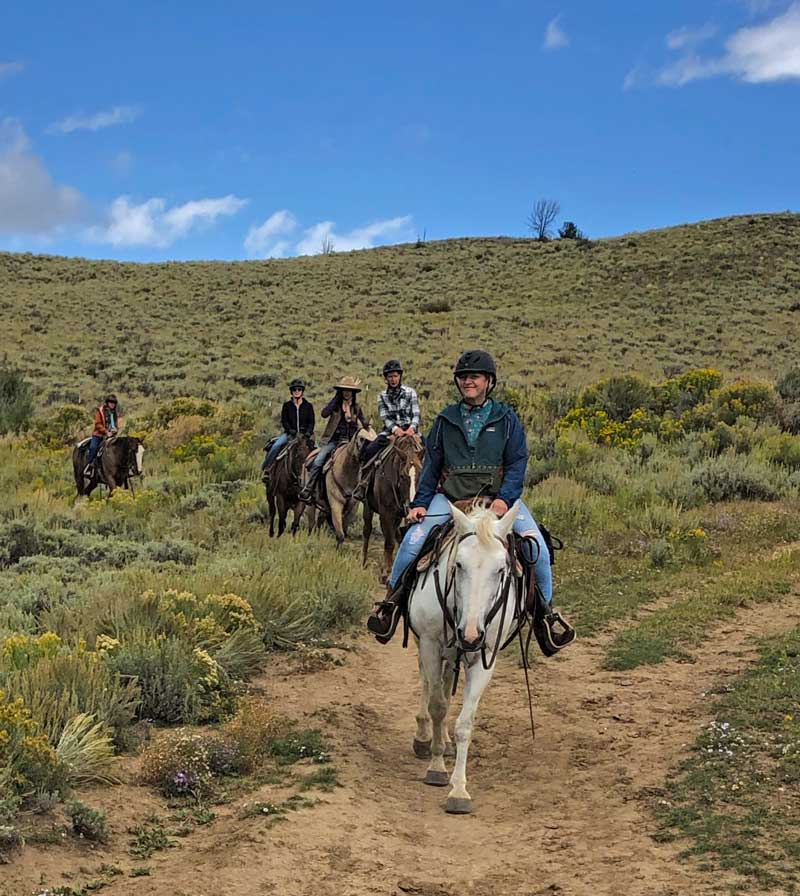 No riding experience necessary at this women's retreat with horses.